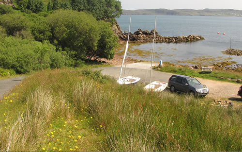 Cove Slipway and the road to it and parking