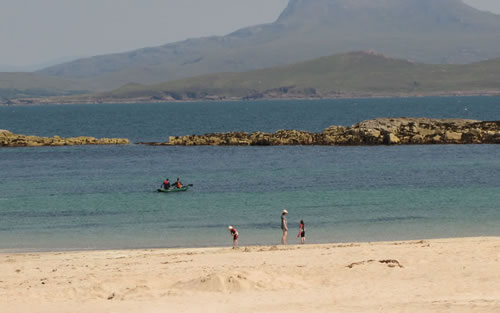 Mellon Udrigle beach with Beinn Ghobhlach in the distance